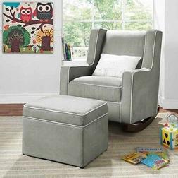 Gray Rocking Chair Nursery Furniture Baby Kids Relax Rocker