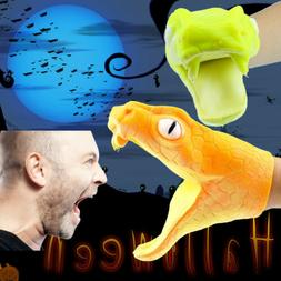 Halloween Viper Animal Hand Puppet Baby Infant Toy Gel Spoof