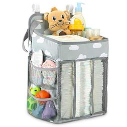 Hanging Diaper Caddy Organizer - Diaper Stacker for Changing