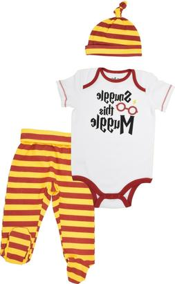 Harry Potter Baby Boys' Layette Clothing Set Bodysuit Pants