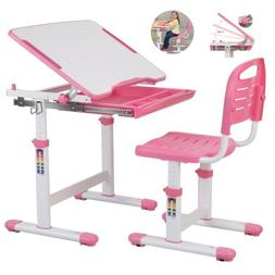 Height Adjustable Kids Children's Study Desk and Chair Set C
