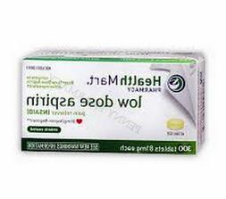 """HM Low Dose """"Baby"""" Aspirin 81mg ENTERIC COATED 300 Tablets *"""