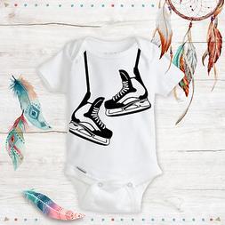 Hockey Skates Baby Onesie- Hockey Gear Funny unisex baby clo