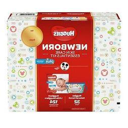 Huggies Plus Diapers Newborn Skin Care Essentials Kit 124 Di