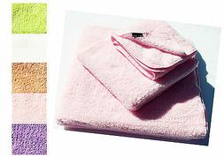 Hypoallergenic Microfiber Pink Bath Towel Set for Baby & Sen