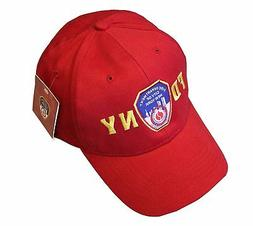 FDNY INFANT BABY Baseball Hat Fire Department New York Red O