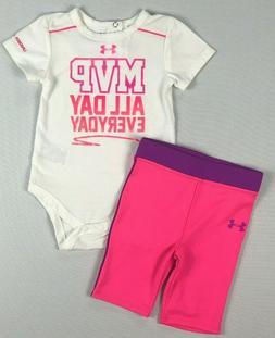 Infant Baby Girl's Under Armour All Season Gear Body Suit an