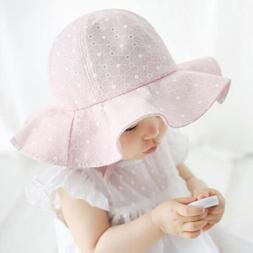 Infant Baby Girls Wide Brim Hat Toddlers Kids Casaul Sun Bea