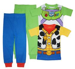 Toy Story 2 Toddler Boys 4pc Snug Fit Pajama Pant Set Size 2