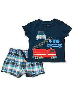 Carters Infant Boys Fire Truck Baby Outfit Police Car Shirt