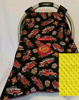 Infant Car Seat Canopy Cotton Fire Trucks Fighter Baby Patch