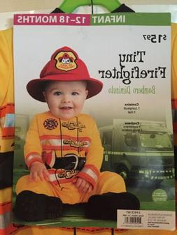 Infant Fire Fighter Costume 12-18 Months Baby Tiny Fireman O