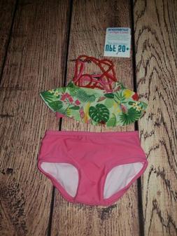 RuffleButts Nordstrom Swim Shirt//Bottom Pink Seersucker NWT Baby Girl 6-12m