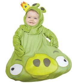 INFANT KING PIG ANGRY BIRDS APP GAME COSTUME BUNTING DRESS 0