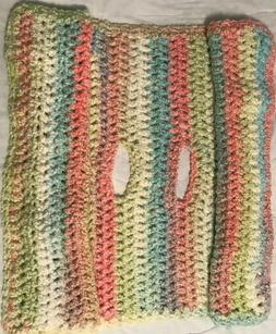 """Infant Toddle Car Seat Blanket Handmade Multicolored 38"""" x"""