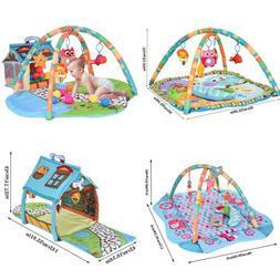 Infant Toddler Baby Play Set Activity Gym Playmat Floor Rug
