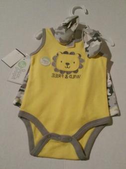 Baby Gear Infant Unisex Camo 3-PC Set Size 3/6 Months NWT