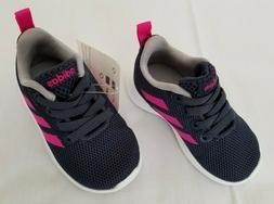 Infants Sz 5K Trace Blue Shock Pink Adidas Lite Racer CLN I