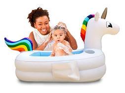 Plur Baby Inflatable Bath Tub and Portable Wash/Rainbow Unic