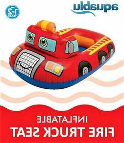 Aquablu Inflatable Fire Truck Cool Summertime Swim Seat & Fl