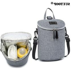 Insulated Thermal Baby Feeding Bottle Bag Women Shoulder Bag