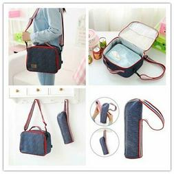 Insulated Water Bottle Carrier Holder Tote Bag Waterproof Ba