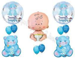 It's A Boy Sweet Angel Teddy Bear Baby Shower Balloons Decor