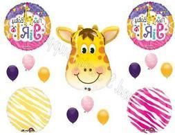 It's A Girl Giraffe Baby Shower Balloons Decoration Supplies