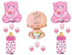 It's A Girl Teddy Bear Baby Bottle Shower Balloons Decoratio