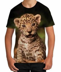 Jaguar Cub Animal Wild Cat Novelty Parent  Son Boys Kids Chi