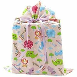 Jungle Animals Gift Bags Reusable Fabric For Baby Shower Chi