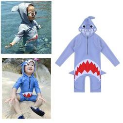 Kids Baby Boy Girls Shark Swimwear Swimsuit Swimming Swim Ba