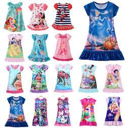 Kid Baby Girl Nightdress Summer Princess Pajamas Nightwear N