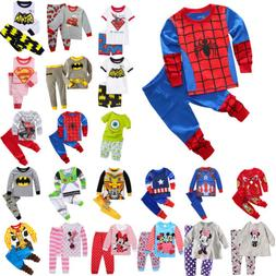 Kids Boys Girls Cartoon Sleepwear Outfit Baby Toddler Nightw