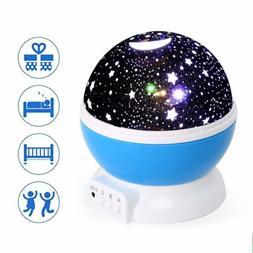 Kid LED Night Lights Star Rotating Projector Nursery Baby Be