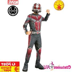 Kids Ant Man Costume Fancy Dress Boys Superhero Marvel Child