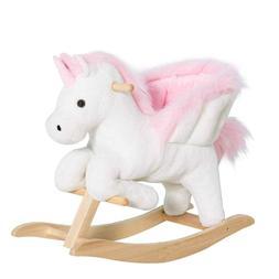 Kids Babies Nursery Furniture Rocking Horse Chair Plush Ride