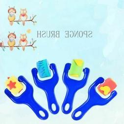 Kids Baby Sponge Brush Roller Toy DIY Paintbrush Drawing Art