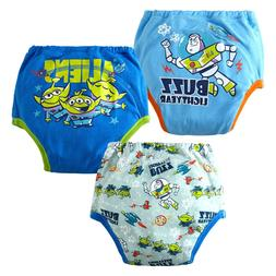 Kids Boys/Girls Cotton Pack-3 Leak Layers Protection Potty T