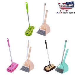Kids Cleaning Set for Toddlers Girls Broom and Dustpan Mops