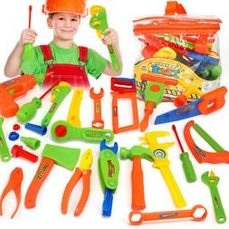 15 Pieces Complete Kids Toy Tools Set – Fun Tool Box Kit F