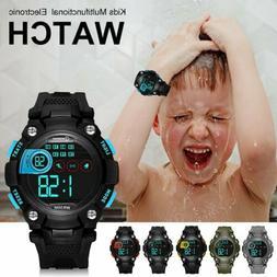 Kids Digital Electronic Watch Waterproof Children Boys Girls