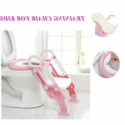 Kids Potty Toilet Seat with Step Stool Ladder for Child Todd