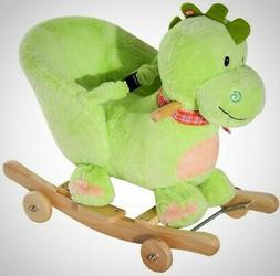 Kids Ride On Dinosaur Toy Baby Rocking Chair Stroller Walker