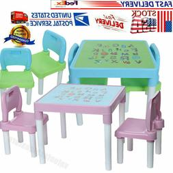 Kids Table & 2 Chairs Set For Toddler Baby Gift Desk Furnitu