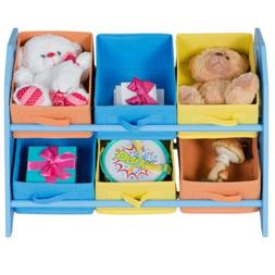 Kids Toddler Child Toy Storage Fabric Box Colorful Case Bask