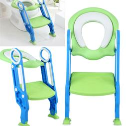 Potty Trainer Toilet Seat Chair Toddler Step Up Training Lad