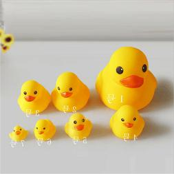Kids Water Bathing Yellow Duck Baby Bath Toy Set Squeezing R