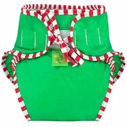 Kushies Baby Unisex Swim Diaper, Green Solid, Small