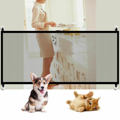 Pets Dog Cat Portable Gate Fence Guard Kitchen Net